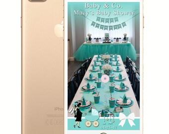 Tiffany and Co. Bridal Shower/Baby Shower/Birthday SnapChat Filter