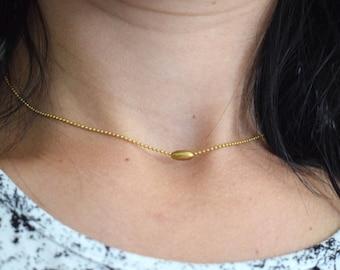 Minimalistic Necklace, Every Day Necklace, Brass Chain Necklace, Mini Necklace, Statement Necklace, Choker Necklace