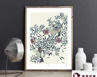 Among The Olive Trees Print • giclee print • signed