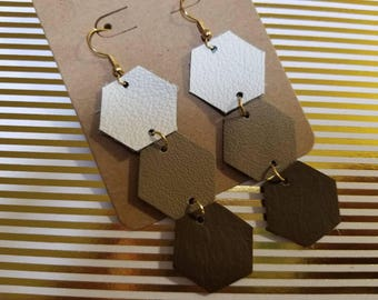 Brown Ombre Hexagon
