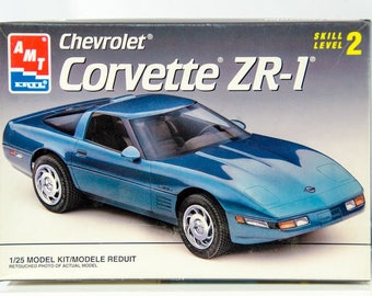 Factory Sealed AMT Chevrolet Corvette ZR-1 1/25 Model