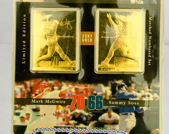 ProMint Mark McGwire & Sammy Sosa 23kt Gold Commemorative Cards Limited Edition