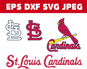 st louis cardinals logo in svg eps dxf jpg files instant download