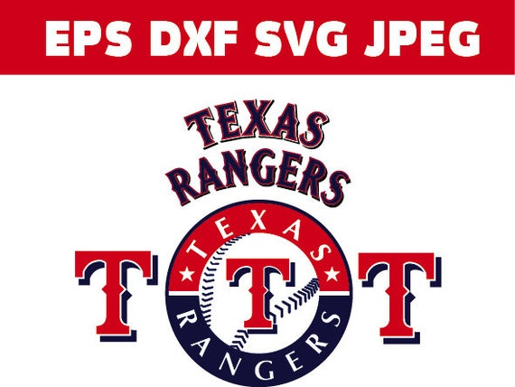 Texas Rangers Logo In Svg Eps Dxf Jpg Files Instant