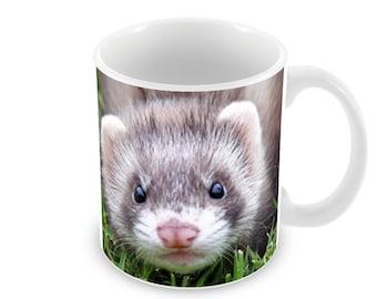 Ferret Ceramic Coffee Mug    Free Personalisation