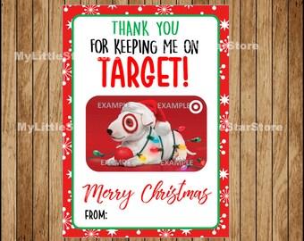 Target Gift Card Holder, Teacher Christmas Gift Card, Printable Teacher Appreciation Gift Instant download