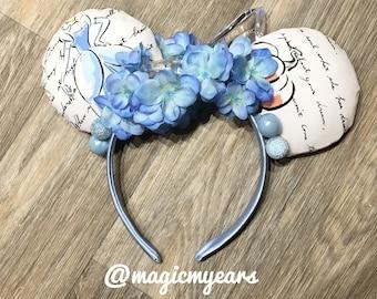 Cinderella Ears - Princess Ears - Cinderella Mickey Ears - Cinderella Minnie Ears - Disney Inspired Cinderella Ears - Cinderella Disney Ears