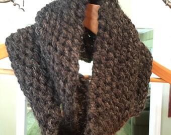 Hand Crocheted Chunky Infinity Scarf