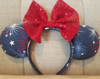 RTS Patriotic Firework Mickey Ears
