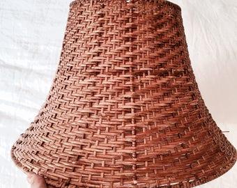 Wicker lampshade   Rattan lampshade   Boho lampshade   Rustic lampshade