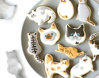 Kitten Cookie Cutters, Cat Cookie Cutters, Kitty Cookie Cutter, Fondant Biscuit Mold, Pastry Baking Tool