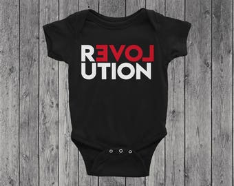 Revolution of Love Baby Bodysuit | Toddler Tee | Graphic Tee | She Persisted | He For She | Equality | Love First
