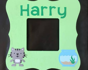 Personalized Wood Cat Frame