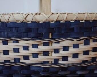 Indigo blue basket