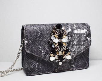 Large Embellished Cross Body Bag
