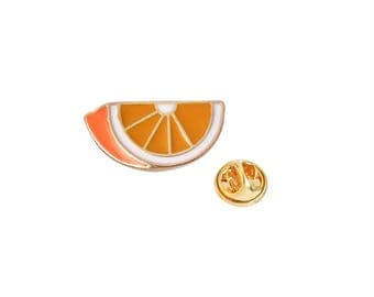 Orange Slice Pin Enamel Pin Ships From Canada Super Cool, Very Nice, Awesome Colours, Perfect Gift, Fun Pin, Fruit Pin