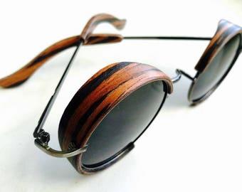 "Steampunk wooden Sunglasses ""Band"""