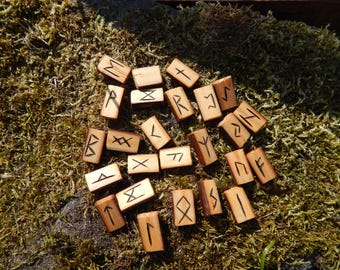 Hand Crafted & Branded - Willow Elder Futhark Runes