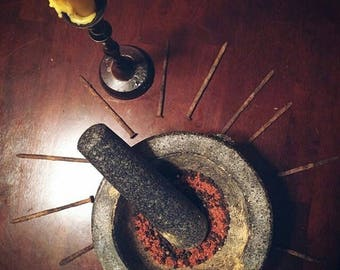 Hot Foot banishing powder, hoodoo, voodoo magic, get rid of someone who wont leave your life
