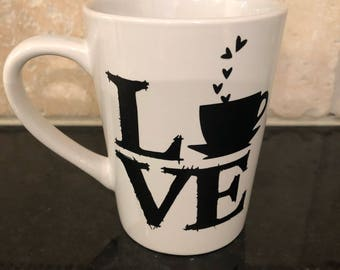 Love Coffee Mug-Philly Love Logo Mug-Coffee Lover Gift-Coffee Mug Gift-Valentines Day Mug-Valentines Day Gift