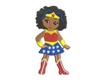 Wonder Woman SuperHero EMBROIDERY Design Super Hero Fill Design Machine Instant Download EN2028F6