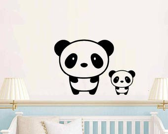 Baby room, nursery panda mama and baby