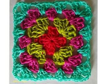 Crochet Granny Square x 10