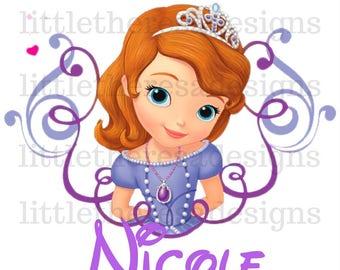 Sofia The First Birthday Princess and Family Transfer,Digital Transfer,Digital Iron On,DIY