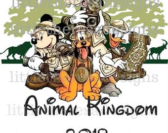 Animal Kingdom 2018 Transfer,Digital Transfer,Digital Iron On,DIY