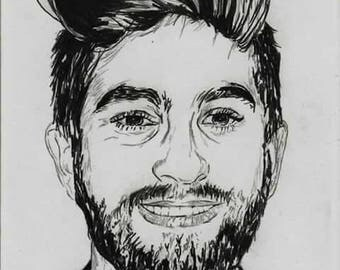 HATERS GIRAC pencil portrait