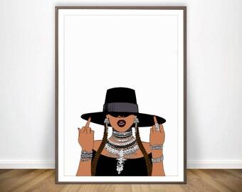 Beyonce Print * Beyonce Poster Inspirational Wall Art Beyonce Lyrics Print Feminism I Slay Beyonce Formation Feminist Art Beyonce Lemonade