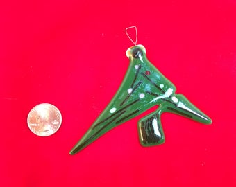 Tree Fused Glass Ornament