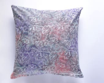 decorative pillow | 16x26 | 20x20 | 26x26 | purple pink white | pillow cover | batik | tropical | throw pillow | home decor | floral | gift