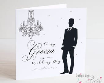 For My Groom on our Wedding Day card - I love you from Bride to Groom