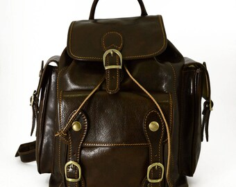 Genuine Leather Backpack for Man