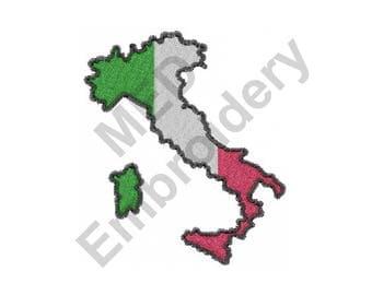 Italia Map - Machine Embroidery Design
