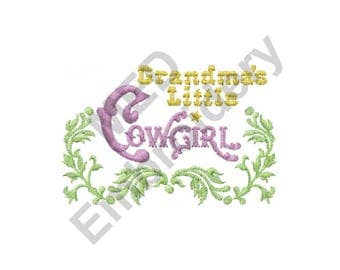 Grandma - Machine Embroidery Design,  Cowgirl - Machine Embroidery Design