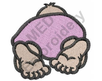 Baby - Machine Embroidery Design, Baby Butt, Diaper