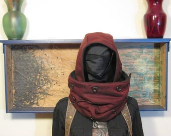 Hooded Cowl Scarf (With Detachable Hood)