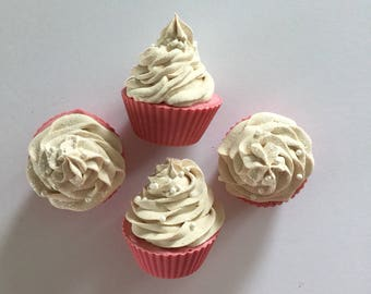 Strawberry Cream Soapy Cupcakes