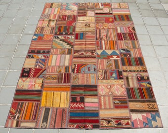 Turkish Hand Made Patchwork Kilim Rug 303x196