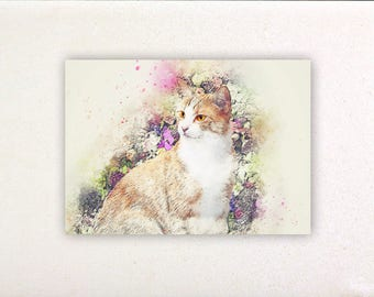 Cat - Watercolor prints, watercolor posters, nursery decor, nursery wall art, wall decor, wall prints 4 | Tropparoba 100% made in Italy