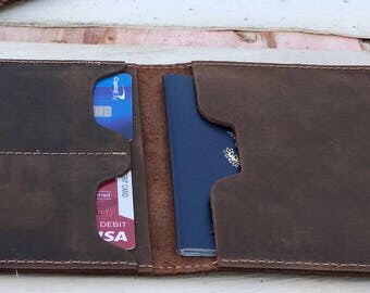 Leather Passport Holder,Leather Passport Wallet,Leather Travel,Passport Cover,minimalist,portefeuille en cuir de passeport