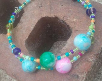 Boho hippy bracelet.  Glass bead