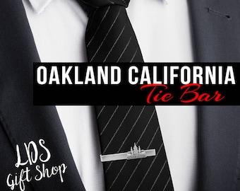 Oakland California Silver or Gold Tie Bar