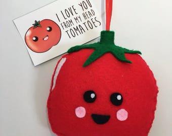 Kawaii Tomato felt Plushie