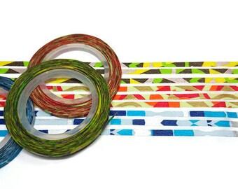 3mm thin washi tape, 3 pack washi tape, Washi tape, Skinny washi tape, Thin Washi, Colourful washi tape, Mosaic washi tape, mt washi tape