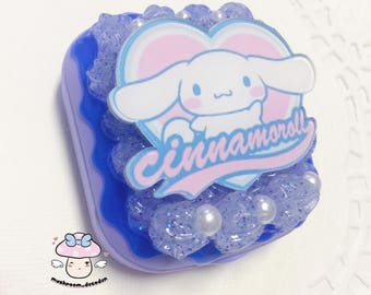 Kawaii Cute Sanrio Cinnamoroll Cute Decoden Whip Cream Cake Contact Lens Case Case Kit