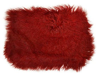 "Expo Mongolian Sheep Fur Lumbar Pillow 12""X18"""