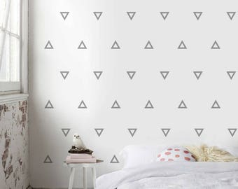 Wall Pattern Decal, Pattern, Triangle Wall Decal, Vinyl Sticker, Triangle Wall Art, Wall Pattern, Pattern Decal, Wall Art Decal, WP001